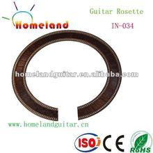 In-034 con incrustaciones de madera soundhole roseta de la belleza de la guitarra clásica de roseta
