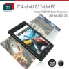 tablet PC 7 inch MID Amlogic 8726 Cortex A9 Mali 400 GPU with wifi 3D HD games and movies multi-touch capacitive screen