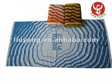 2012 100% cotton velour reactive print beach towel