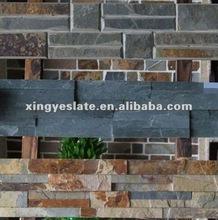 stacked stone rusty slate