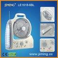 Le1618-6bl LED recargable 8' ventilador con luces y radio ----- ventilador de emergencia linterna, Portátil
