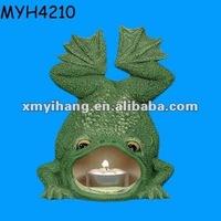 Creative polyresin frog shape candle burners
