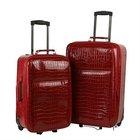 Trolley Luggage 2PCS/Rolling Luggage PU Leather