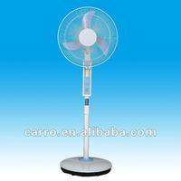 12v motor ac dc rechargeable oscillating fan with led light CE-12V16B