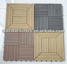 Environmental PVC/PE wood plastic outdoor floor profile production line