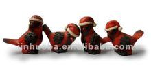 2012 Latest Christmas resin robin birds decoration