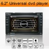 In dash DVD & GPS Head Unit for car Nissan Universal with 6.2'' HD digital TFT touch screen