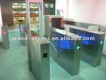 CE Approved Security Passage Turnstile with IR Sensor,alarm,Flap Barrier Turnstile gates