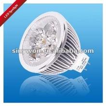 2012 Good heat dissipation MR16 LED Spotlight with UL