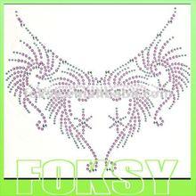2012 new neckline crystal sticker on evening dress