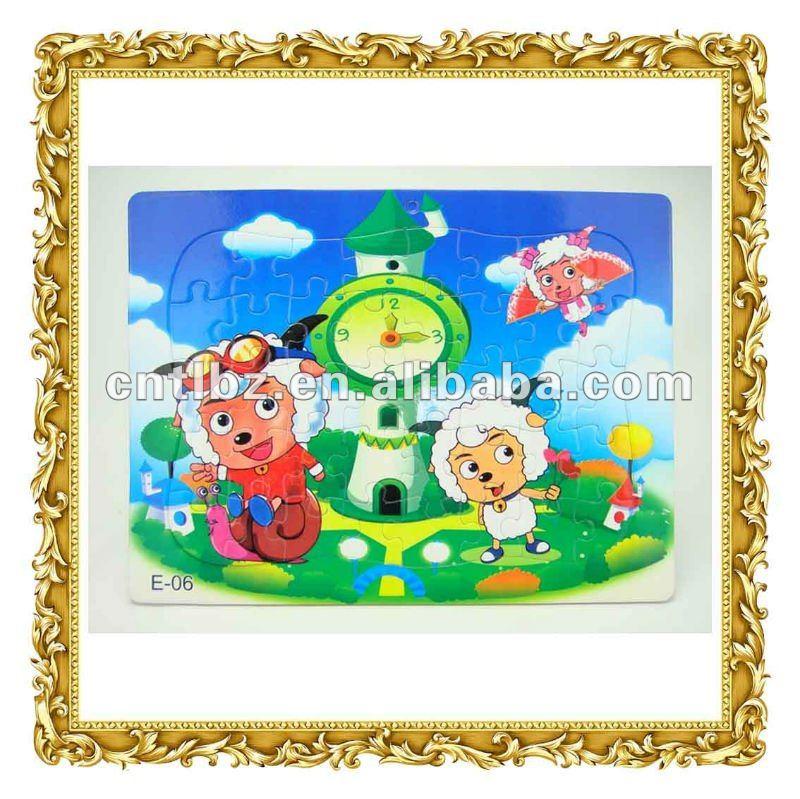 Paper cartoon puzzle