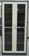 Office steel double opening glass door storage file/filing cabinet/locker/cupboard