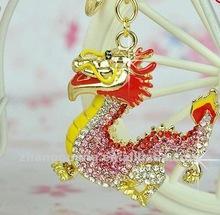 2012 fashion dragon crystal keychain
