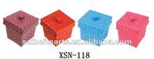 cute plastic hand woven sundry storage basket