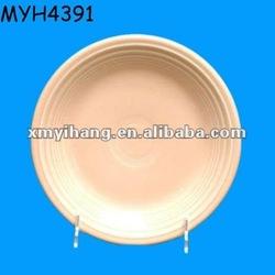 Ceramic Apricot Salad Plate in the Fiesta pattern