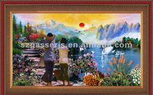 modern Living room decorative framed oil painting
