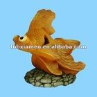 resin ornament goldfish figurine