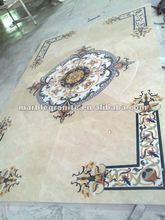Marble Mosaic Square Pattern Medallion Floor Tiles