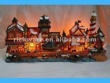 Resin Lighting Christmas Village For 2012