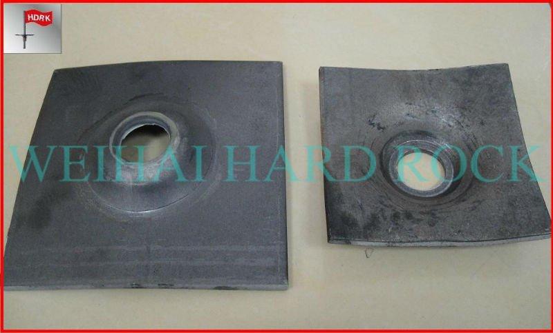 Alta resistencia de metal con tapa de acero inoxidable de la placa de anclaje