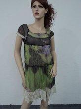 2012 fashion chiffon ladies'dress