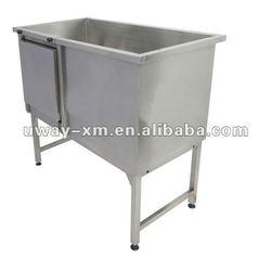 Stainless Steel Dog Bathtub with door