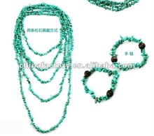 Fashion jewelry multi function nature semiprecious bead necklace