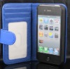 Leather Color Wallet Book Case Cover Pouch For iPhone 4 4S 4S Best Quality