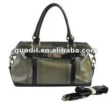 Summer hot! Plaid Printed pu with Belt lock e/w satchel bags fashion ladies handbags 2012