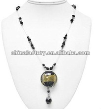 Fashion handmade black bead long necklace