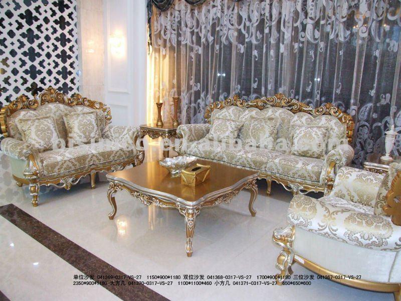 Sala De Estar Em Frances ~ , Escultura em madeira conjunto de sofá, Luxo móveis sala de estar