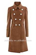 Newest ladies trendy designer wool coat 2012