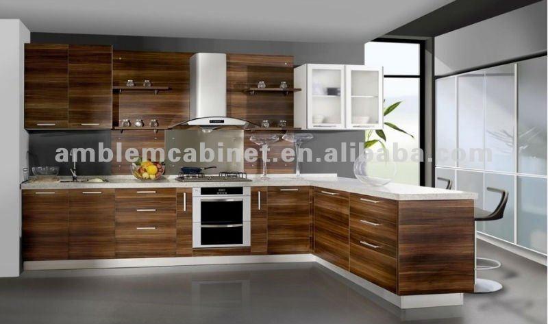 En bois couleur m lamine cuisine armoires armoire de for Armoires de cuisine en bois