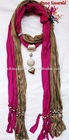 Scarves Jewelry soft Cotton Necklace Scarf pendant Shawl Wrap