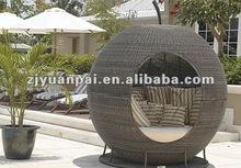 outdoor rattan hanging chair set pe rattan material lake sofa