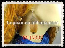 2012 trendy dangle tribal feather earrings
