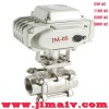 24V, 110V, 220V, 380V stainless steel motorized ball valve