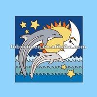 dolphin moon ceramic tiles