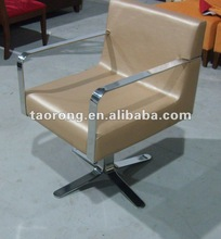 POPULAR! One seat rotate STAINLESS LEATHER frame sofa, SO-015