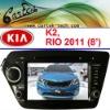 KIA RIO Car Radio With 8 Inch HD Digital Touch Screen, GPS, IPOD, Wince6.0 OS
