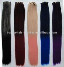 Two Tone color synthetic hair extensions