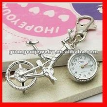 fashion silver bike digital clock keychain