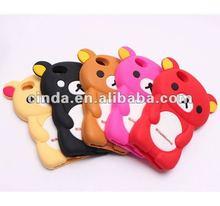 3D Rilakkuma Bear Cute Soft Silicone Case Cover For Apple iPhone 4 4G 4S