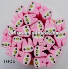 Cute Rabbit shape Polymer clay beads for earrings& decorations!! Hot selling!!