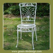 Antique white garden sex chair