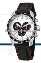 2012 white dial sport watch, black strap
