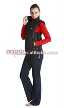 Electric heated winter coat for outdoor sports in cold area and time