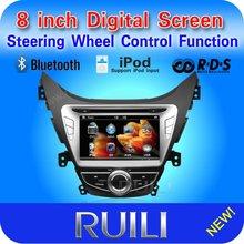 In dash digital touch screen 2 din 8 inch 3D UI for Hyundai Elantra