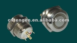 16mm illuminated metal pushbutton switch