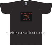 2012 Charming sound led flashing EL T-shirt